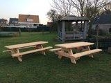 Picknickbank 6 cm dik douglas hout in diverse afmetingen _