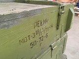 munitiekist 120x39x23 cm oude kisten decoratie legerkist gebruikt _