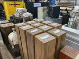 Iroko meerpaal sokkel  20x20 cm 100 cm lengte, geschaafd._