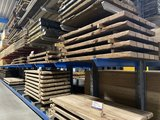 Hardhouten oude dragline schot tafelbladen 7 cm x 100 cm breedte, diverse lengtes._