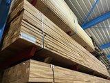 44 x 68 mm geschaafde hardhouten ligger mahoni  onderligger_