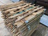 kastanje poort hxl 90x100 cm  incl hang sluitwerk_