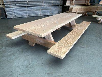 Picknickbank 6 cm dik douglas hout in diverse afmetingen