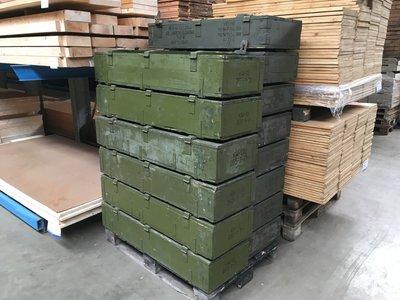 munitiekist 120x39x23 cm oude kisten decoratie legerkist gebruikt