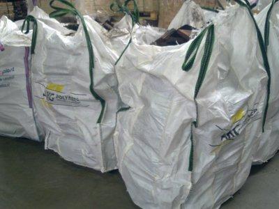 Brandhout in 1 m3 bigbag zak verpakt