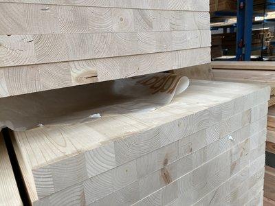 40 mm x 600 mm vurenhout meubel paneel