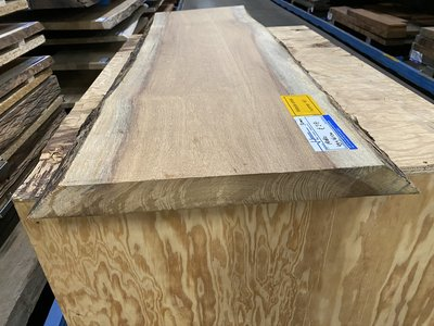 Iroko boomstam tafelblad   50 mm dik 75x220  cm w10
