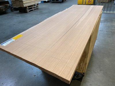 Moabi 30 mm dikte boomstam blad bureablad 71x220 cm w24