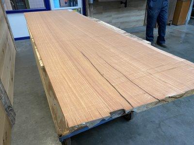 Moabi 30 mm dikte boomstam blad bureablad 68x220 cm w25