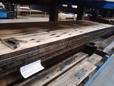 Eikenhouten spoorplanken 40 x 250 mm geschaafde oude delen
