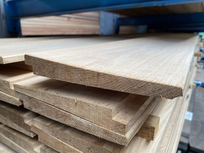 eikenhouten zweeds rabat potdeksel planken 25x170 mm werkend